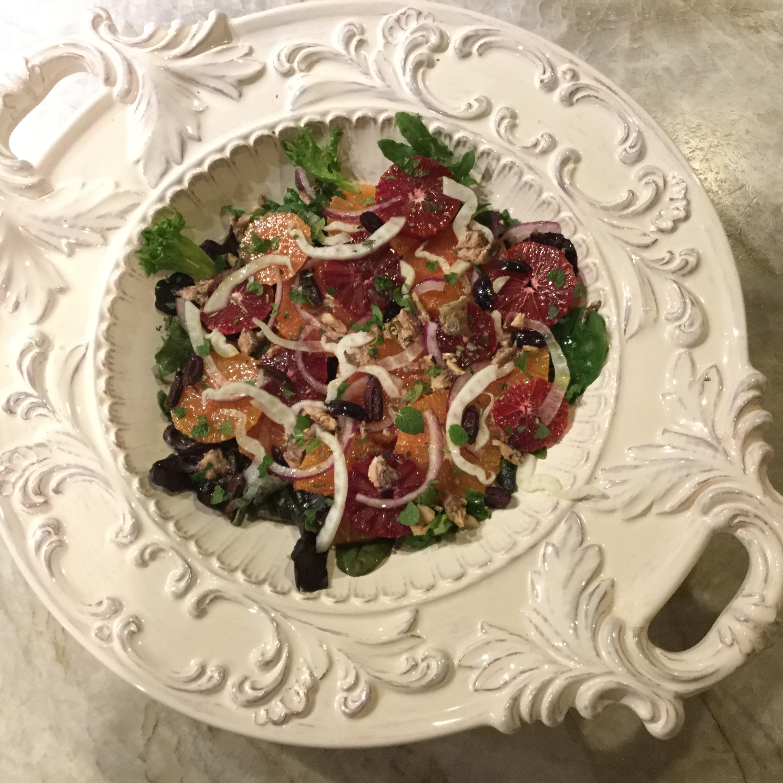 Orange and Fennel Salad - Honey Lemon Vinaigrette