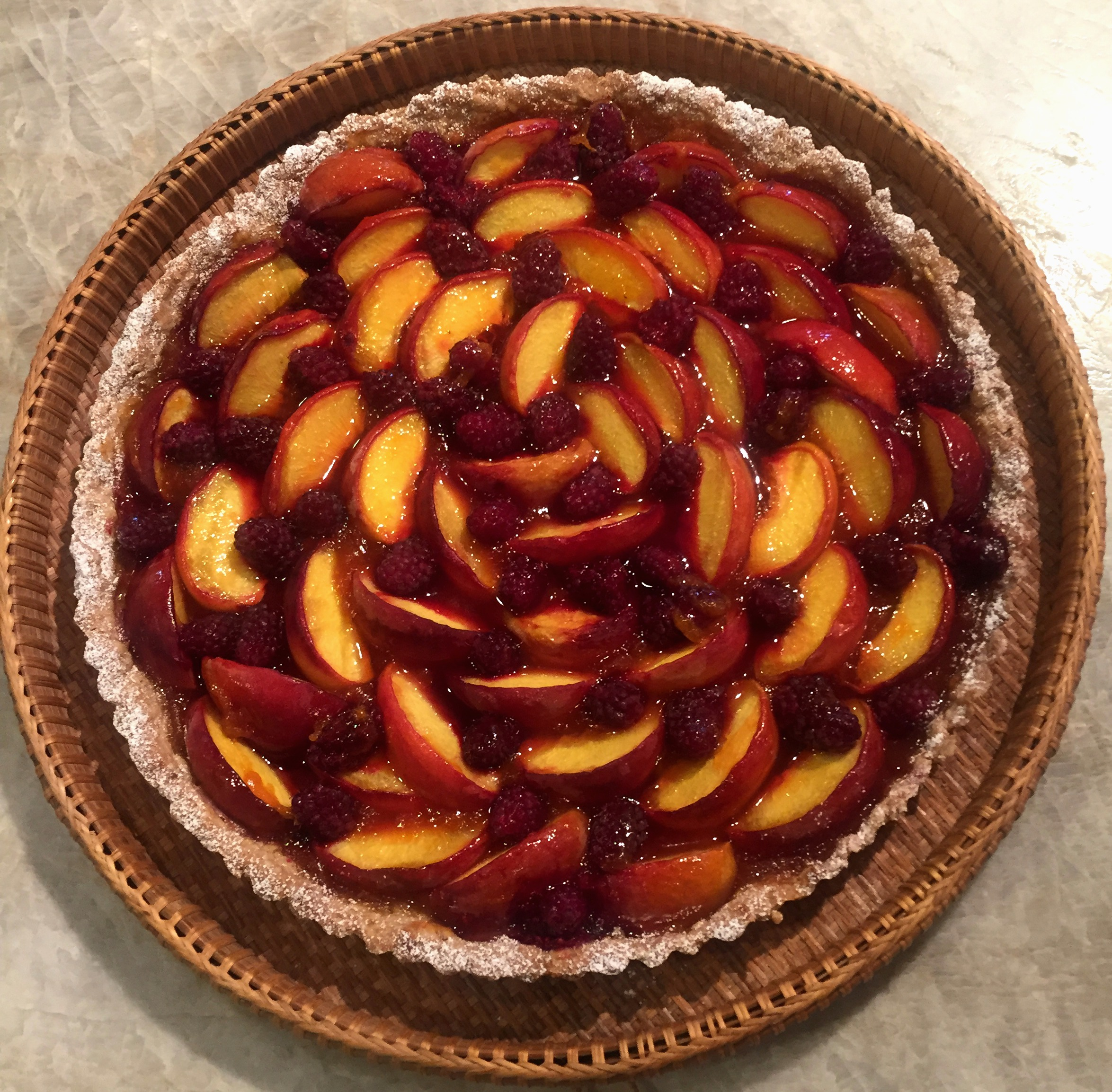 Peach Tart with an Oatmeal Crust