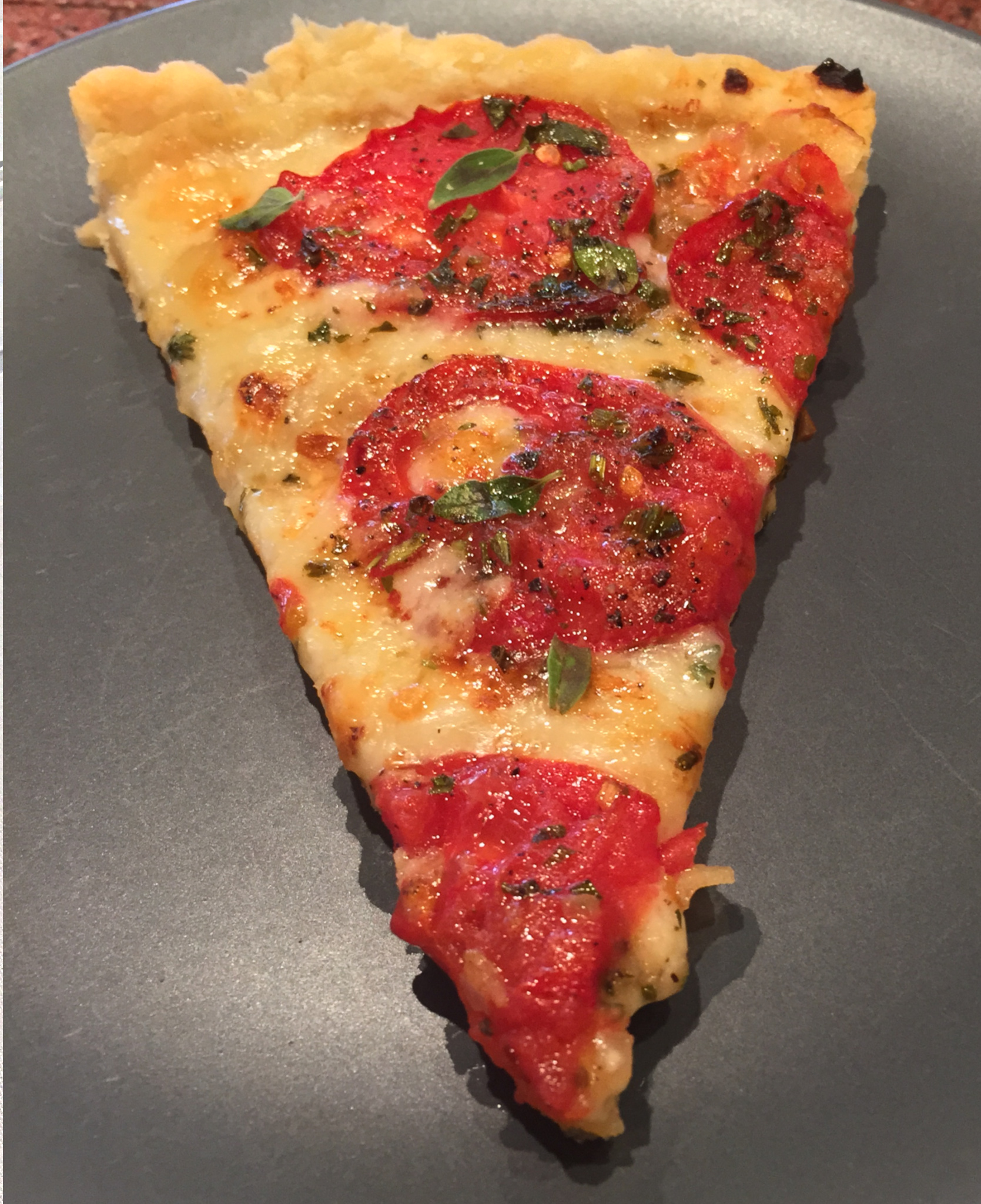 French Tomato and Cheese Tart with Fresh Herbs