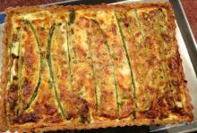 Asparagus Tart with Polenta Crust