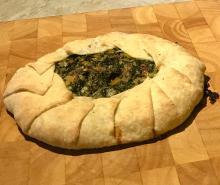 Herb tart from Emilia-Romagna Erbazzone