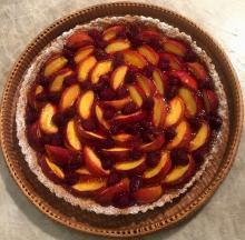 Peach Tart with an Oatmeal Crust