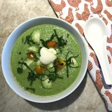 Cold Cucumber Gazpacho Soup