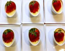 Lemon Verbena Pots de Crème with Berries