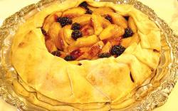 Peach and Blackberry Galette Free form Tart
